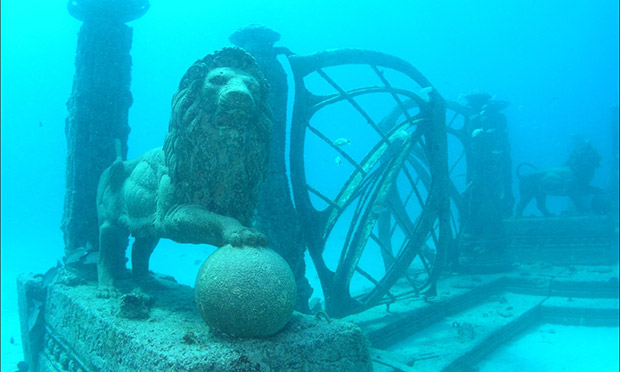 The Neptune Society's underwater reef.